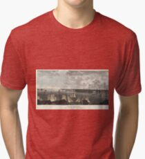 Camiseta de tejido mixto Vintage Pictorial Map of New York City (1824)