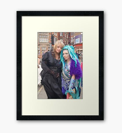 The Goth Weekend at Whitby, Oct 2011. 7 Framed Print