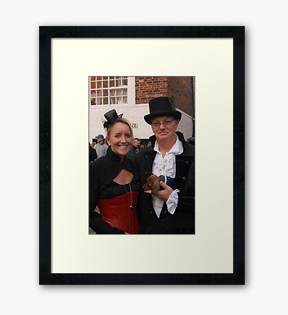 The Goth Weekend at Whitby, Oct 2011. 9 Framed Print