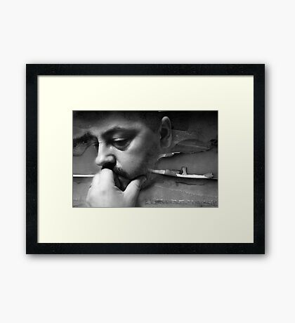 Hard To Think When Things Break Down Framed Print
