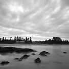 Black & White - Toowoon Bay Beach by Jacob Jackson