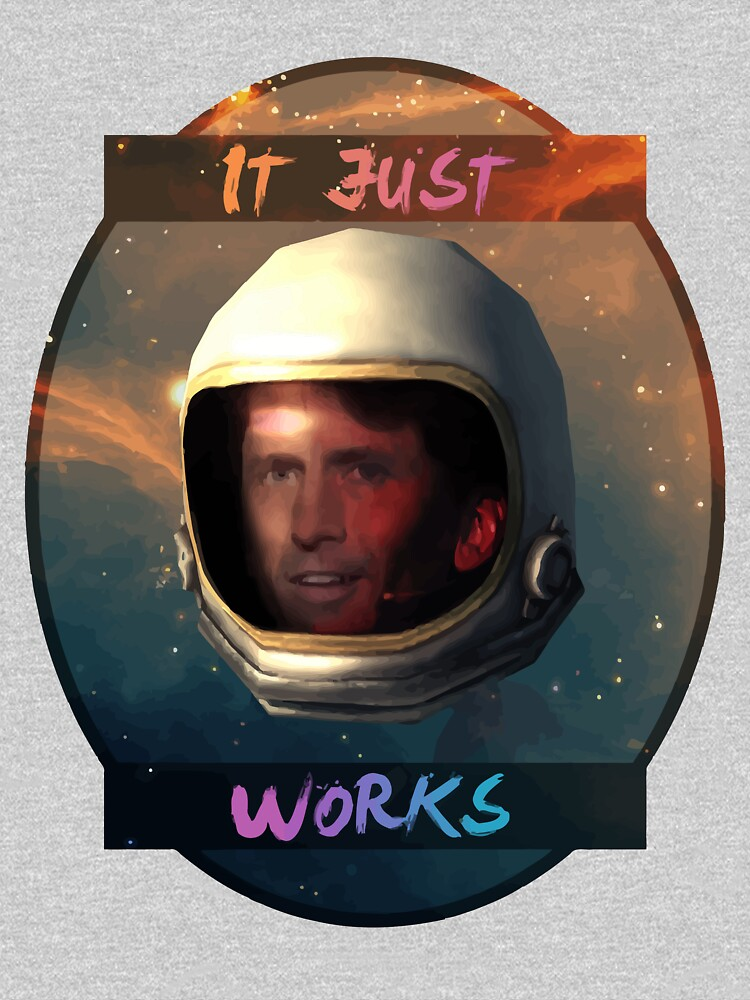 todd howard in space just works unisex t shirt by roxyn redbubble