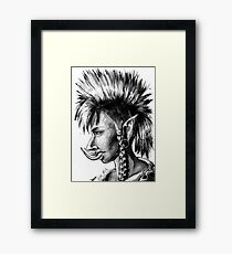 Punk Troll Framed Print