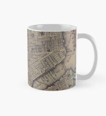Taza Vintage NYC and Brooklyn Map (1847)