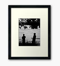 Silhouettes - Brisbane Floods 2011 Framed Print
