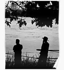 Silhouettes - Brisbane Floods 2011 Poster