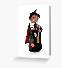 Halloween witch figurine. Greeting Card