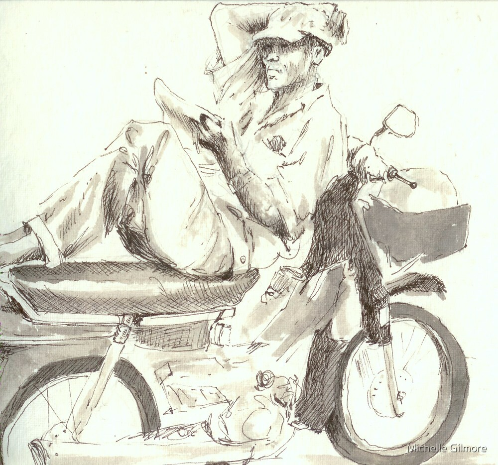 My motorbike is my home by Michelle Gilmore
