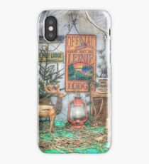 Down At The Lodge iPhone Case/Skin