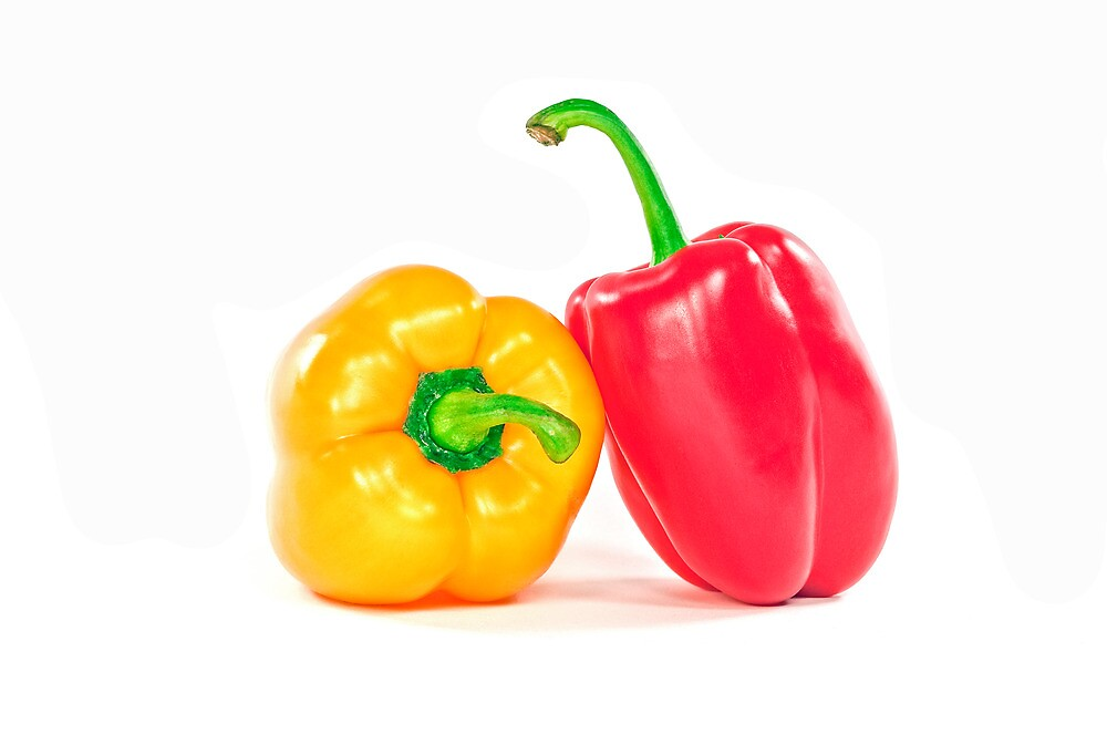 Red and yellow peppers. by FER737NG