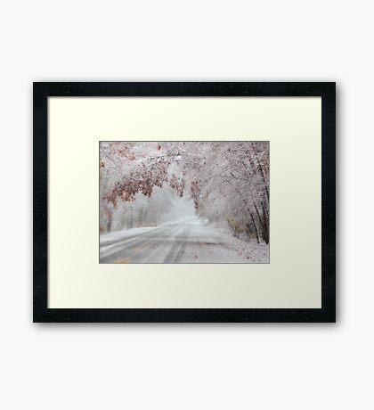 I'm Dreaming of a White Autumn Framed Print