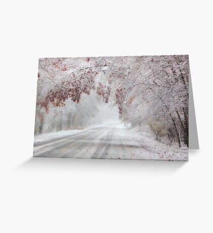 I'm Dreaming of a White Autumn Greeting Card