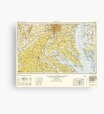 USGS Topo Map District of Columbia DC Washington 257784 1948 250000 Canvas Print
