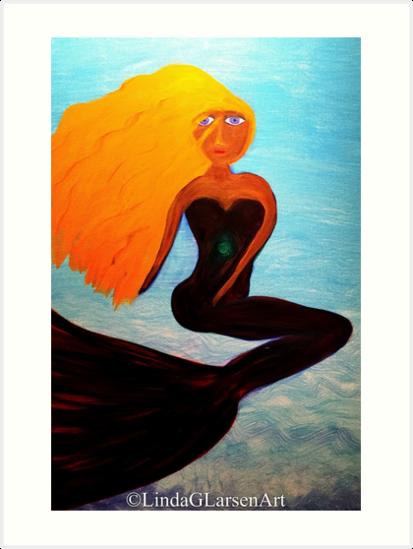 Heart Chakra Mermaid by LindaGLarsen by lindaglarsen