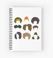 Black Afro Natural Hair  Spiral Notebook