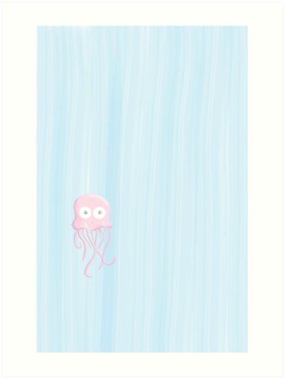 Lone Jellyfish by Jessica Faux