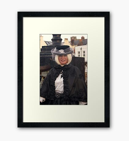 The Goth Weekend at Whitby, Oct 2011. 11 Framed Print