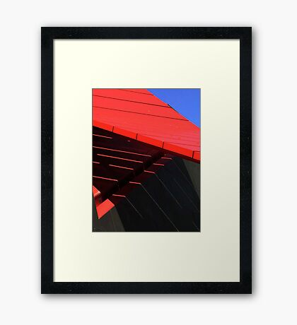 Abstract shadows Framed Print
