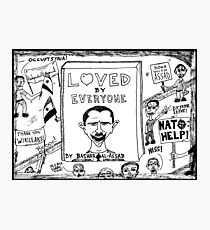 Loved by Everyone by Bashar Assad book cover cartoon Photographic Print