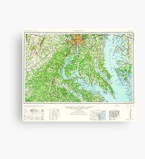 USGS Topo Map District of Columbia DC Washington 257785 1961 250000 Canvas Print