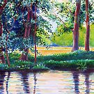 River Scene in Austria by Gregory Pastoll