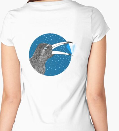 Magpie's Winter Heart Women's Fitted Scoop T-Shirt