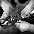 Shoe Polishing Service On Street by Kasi ZX Xie
