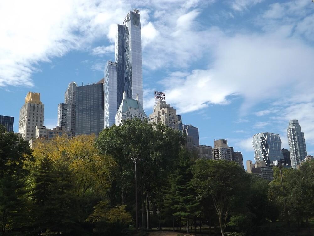 The One57 Skyscraper Dominates the Central Park South Skyline  by lenspiro