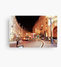 Night time walk in London Canvas Print