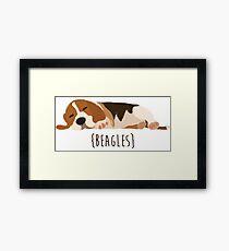 Beagles Framed Print