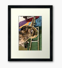 Trombone and Gracie Framed Print