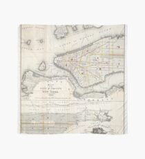 Pañuelo Vintage Map of New York City (1860) 2