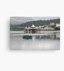 Pier & Boat on Menai Strait Canvas Print