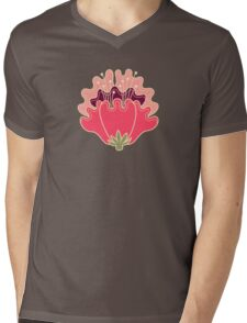 flat flowers Mens V-Neck T-Shirt