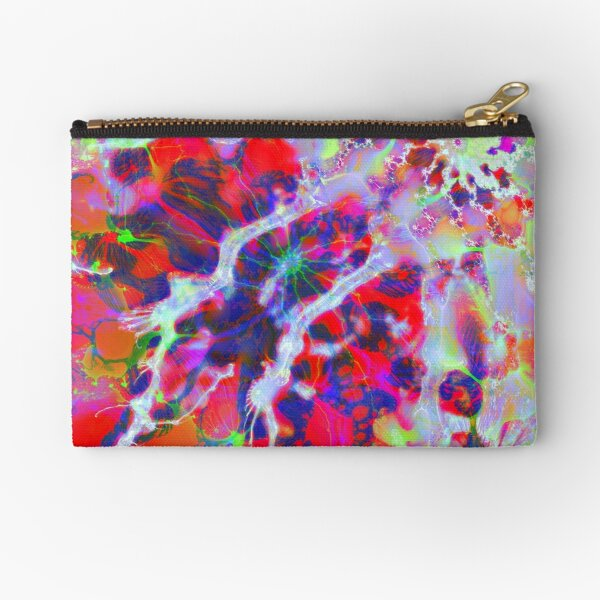 Fractalize Crimson Zipper Pouch
