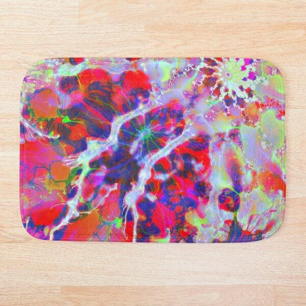 Fractalize Crimson Bath Mat