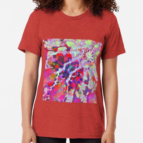 Fractalize Crimson Tri-blend T-Shirt
