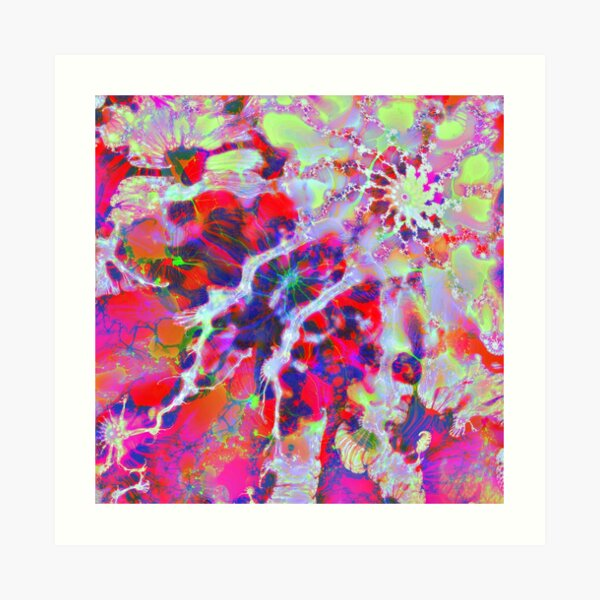 Fractalize Crimson Art Print