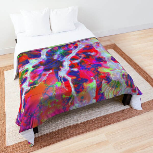 Fractalize Crimson Comforter