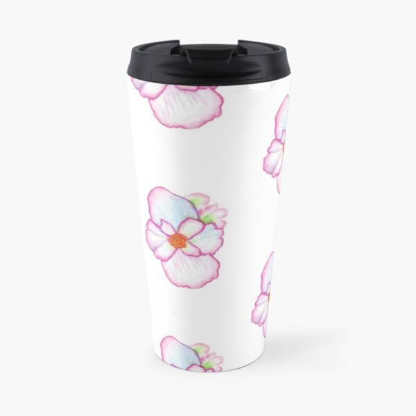 Pink Pansy Travel Mug