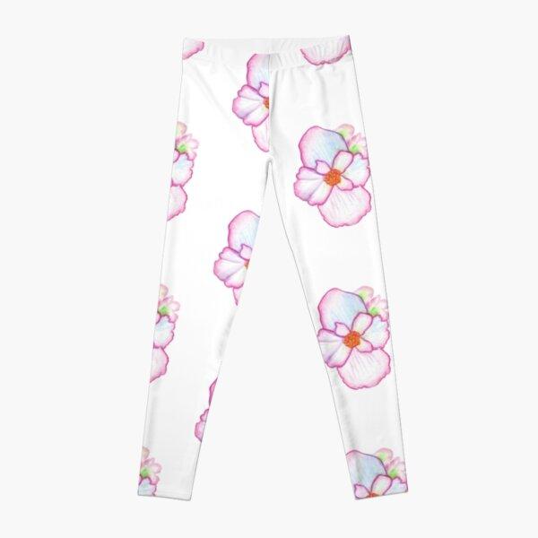 Pink Pansy Leggings