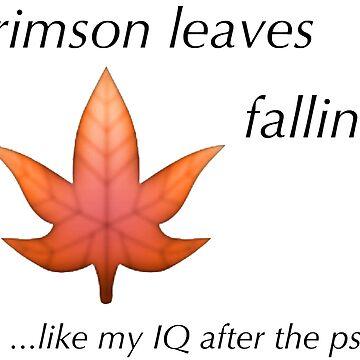 PSAT Crimson Leaves Falling by my-ugh