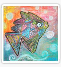 Psychedelic Fish Sticker