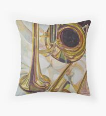 Brass at Rest Throw Pillow