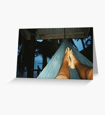 Hammock Feet - Koh Phangan, Thailand Greeting Card