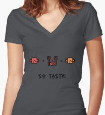 Mmmm. So TASTY!  Women's Fitted V-Neck T-Shirt