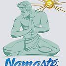 Namaste Detroit Vollfarbe von NamasteDetBrand
