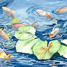 Fish In The Pond by clotheslineart