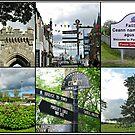 Postcards from Stornoway - A Hebridean Collage von BlueMoonRose