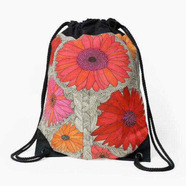 Gerbera Daisy Drawstring Bag